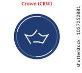 vector crown  crw  digital...   Shutterstock .eps vector #1037252881