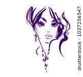 vector  stylish  original hand... | Shutterstock .eps vector #1037256547