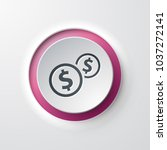 web icon push button money... | Shutterstock .eps vector #1037272141