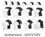 blank uniform  polo shirts  t... | Shutterstock .eps vector #103727291