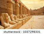 anscient temple of karnak in... | Shutterstock . vector #1037298331