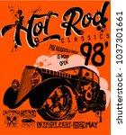 hot rod classics hotrod... | Shutterstock .eps vector #1037301661
