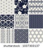 japanese new pattern seamless... | Shutterstock .eps vector #1037303137