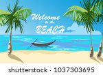 boat near the shore of the... | Shutterstock .eps vector #1037303695