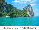krabi thailand 3 feb 2018 ... | Shutterstock . vector #1037307685