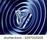 tron crypto currency symbol in... | Shutterstock . vector #1037310205