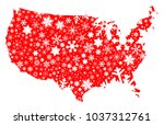 a red silhouette map of the...   Shutterstock . vector #1037312761
