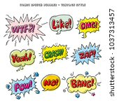 speech bubbles vintage style | Shutterstock .eps vector #1037313457