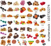 various candies collection... | Shutterstock . vector #103732274