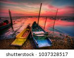 fishing boat by the gulf of... | Shutterstock . vector #1037328517