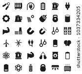 flat vector icon set   kettle... | Shutterstock .eps vector #1037334205