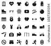 flat vector icon set   diet... | Shutterstock .eps vector #1037335354
