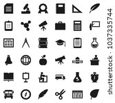 flat vector icon set   book... | Shutterstock .eps vector #1037335744