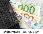 money. currency. euro. dollar.... | Shutterstock . vector #1037337424