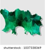 map jersey map each city... | Shutterstock .eps vector #1037338369