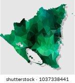 map nicaragua map each city... | Shutterstock .eps vector #1037338441