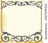 retro baroque decorations... | Shutterstock .eps vector #1037339251