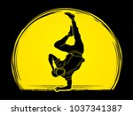 dancer  hip hop  street dance ... | Shutterstock .eps vector #1037341387
