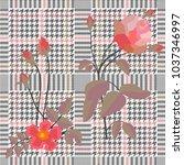 elegant checkered  print with... | Shutterstock .eps vector #1037346997