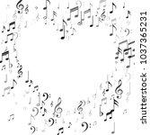heart of black and white music... | Shutterstock .eps vector #1037365231
