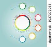 vector infographic template... | Shutterstock .eps vector #1037373085