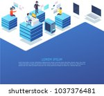 group of business people... | Shutterstock .eps vector #1037376481