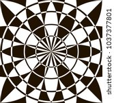 optical illusion  black and...   Shutterstock .eps vector #1037377801