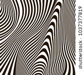 optical illusion  black and...   Shutterstock .eps vector #1037377819