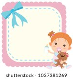 border template wtih baby girl...
