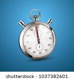 stopwatch perspective view  ... | Shutterstock .eps vector #1037382601