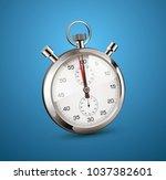 stopwatch perspective view  ... | Shutterstock .eps vector #1037382601