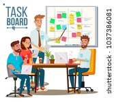 business characters scrum team... | Shutterstock .eps vector #1037386081