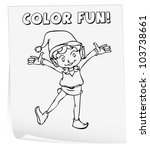 illustration of a colouring... | Shutterstock .eps vector #103738661