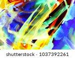 abstract watercolor texture.... | Shutterstock . vector #1037392261