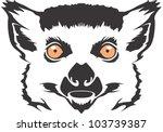 creative lemur illustration | Shutterstock .eps vector #103739387