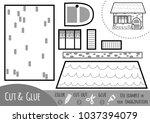education paper game for... | Shutterstock .eps vector #1037394079