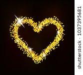 heart of glitter with glare... | Shutterstock .eps vector #1037395681