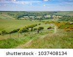 south downs way  a  long...   Shutterstock . vector #1037408134