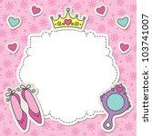 princess frame with cartoon... | Shutterstock .eps vector #103741007