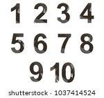 polygonal numerals. creative... | Shutterstock .eps vector #1037414524