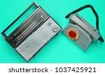 culture of the 70s. radio... | Shutterstock . vector #1037425921