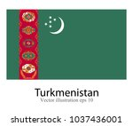 high detailed vector flag of... | Shutterstock .eps vector #1037436001