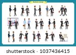 man's handshake. business... | Shutterstock .eps vector #1037436415