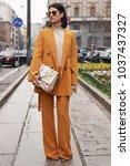 milan  italy   february 22 ...   Shutterstock . vector #1037437327