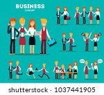 set of businessmen cartoon... | Shutterstock .eps vector #1037441905