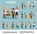 set of businessmen cartoon... | Shutterstock .eps vector #1037441911