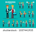 vector set of businessman... | Shutterstock .eps vector #1037441935