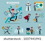 vector set of businessman... | Shutterstock .eps vector #1037441941