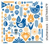 collection of blue and orange...   Shutterstock .eps vector #1037444479