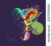 abstract vector background dot...   Shutterstock .eps vector #1037455441